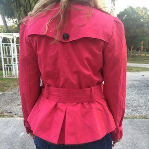 Pink Trench Coat, Black Rivet